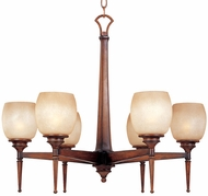 Maxim 11205-WSBH(OSS) Olympia 6 Light Wooden Chandelier (Over-Stock Sale)