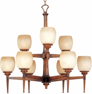 Maxim 11206-WSBH(OSS) Olympia 2 Tier Wooden Chandelier (Over-Stock Sale)