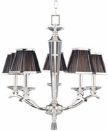Maxim 32005BTPS Elite 5 Light Silver Chandelier