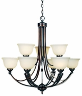 Quoizel DY5073 Delray 9-Light Chandelier in Vintage Bordeaux