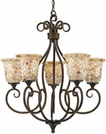 Quoizel MY5005ML Monterey Mosaic 5-Light Chandelier