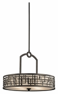 Kichler 43047OZ Loom 24 Inch Diameter Transitional Olde Bronze Pendant Hanging Lamp