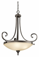 Kichler 43164OZ Monroe Large Olde Bronze 26 Inch Diameter Inverted Pendant Hanging Light