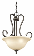 Kichler 43179OZ Feville 18 Inch Diameter Traditional Inverted Pendant Lighting Fixture - Olde Bronze