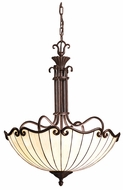 Kichler 65217 Clarice 3 Lamp Tiffany 22 Inch Diameter Ceiling Light Pendant - Tannery Bronze