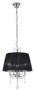 EGLO 89032A Diadema 15 Inch Diameter Chrome Finish Traditional Hanging Pendant Lighting - Small