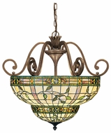 Kichler 65186 Elegant'e Bronze 26 Inch Diameter Tiffany Inverted Pendant Lamp