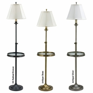 House of Troy CL202 Club Adjustable Floor Lamp with Glass Table