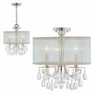 Crystorama 5623 Hampton 3-Lamp Chandelier/Semi-Flush Ceiling Light
