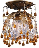 Crystorama 5230-G-AMBER Calistoga 6 1/2 inch ceiling flush mount light in Gold Leaf