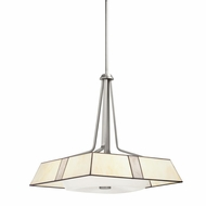 Kichler 65347 Bryn 18 Inch Diameter Tiffany Brushed Nickel Ceiling Pendant Light Fixture