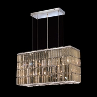 Elegant 2018D26C-GT-RC Maxim Small 26  6-light Golden Teak Crystal Kitchen Island Lighting