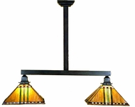 Meyda Tiffany 28514 Prairie Corn Mission Tiffany 2 Light Kitchen Island Ceiling Light