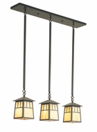 Arroyo Craftsman RICH-6/3 Raymond Craftsman 3-Light Pendant - 30 inches wide
