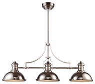 Landmark 661153 Chadwick Vintage Kitchen Island Light in Polished Nickel