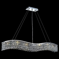 Elegant 2041D44C-RC Contour Large Clear Square Crystal Kitchen Island Light Fixture