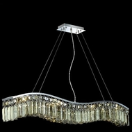 Elegant 2040D36C-GT-RC Contour Medium Golden Teak Crystal Chrome Island Light Fixture
