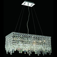 Elegant 2035D24C-RC Maxim Small 6-lamp Square Crystal Kitchen Island Light