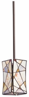 Kichler 65359 Shazam Olde Bronze Tiffany Art Glass Mini Pendant Light