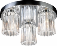 PLC 1068-PC Felicia 3-Light Flush-Mount Ceiling Fixture