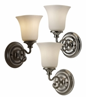 Feiss VS19601 Brook Haven 10 Inch Tall Transitional Torch Wall Lighting