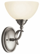 Kichler 6773AP Lombard Antique Pewter 12 Inch Tall Wall Mount Light Fixture