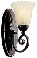 Kichler 5926TZ Willowmore 12 Inch Tall Wall Mount Lighting Fixture - Tannery Bronze