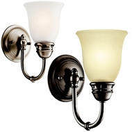 Kichler 45064 Durham Transitional 9.5 Inch Tall Transitional 1 Lamp Wall Sconce