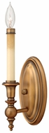 Hinkley 3620BR Yorktown Bronze Classic Candle Sconce