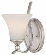 Quoizel SPH8701BN Sophia Single Lamp Small Torch Style Nickel Wall Sconce