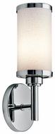 Kichler 10680CH Transitional Chrome Cylinder Fluorescent Metal Wall Sconce
