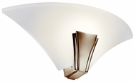 Kichler 10435PN Oviedo Single Lamp Modern Nickel Wall Sconce Light
