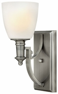 Hinkley 4020AN Truman Single Torch Style Nickel Wall Lighting Sconce
