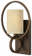 Fredrick Ramond 42400BRC Pandora Transitional Candelabra Wall Lighting With Linen Shade