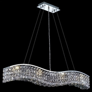 Elegant 2041D36C-RC Contour Medium Square Clear Crystal Kitchen Island Lighting