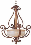 Maxim 11415-WSMC(OSS) Savannah Traditional 3 Light Large Pendant Fixture (Over-Stock Sale)