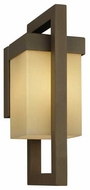 Forecast F861411 City Small Square Contemporary Outdoor Wall Sconce with Light Caramel Glass