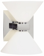 PLC 540 Matrix 2-Light Matte Opal Glass Bathroom Light Fixture