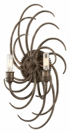 Troy B3672 Revolution Bronze 20 Inch Tall 2 Lamp Sconce Lighting Fixture
