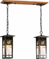 Meyda Tiffany 81264 Pasadena Rose Tiffany 2 Light Lantern Kitchen Island Ceiling Light