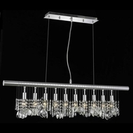 Elegant 3100D40C-RC Chorus Line 10-lamp Medium Modern Crystal Kitchen Island Light