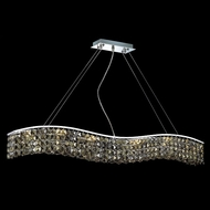 Elegant 2041D44C-GT-RC Contour Large Golden Teak Square Crystal Island Lighting