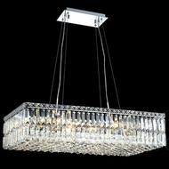 Elegant 2034D32C-RC Maxim 32  16-light Large Crystal Kitchen Island Lighting