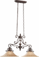 Kichler 3857CZ Cottage Grove Carre Bronze 2-Light Traditional Island Light