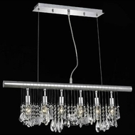 Elegant 3100D30C-RC Chorus Line Small Crystal Island Light Fixture