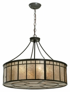 Meyda Tiffany 112438 Glendale Mission 24 Inch Diameter Timeless Bronze Drum Pendant Light