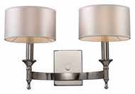 ELK 10122/2 Pembroke Polished Nickel 19 Inch Tall 2 Light Wall Light Fixture