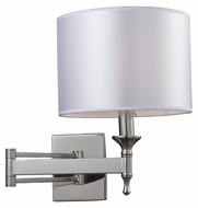 ELK 10160/1 Pembroke Swing Arm Polished Nickel 14 Inch Tall Bedside Lamp