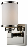 ELK 11250/1 Corrina Transitional Polished Nickel 10 Inch Tall Wall Lighting Sconce