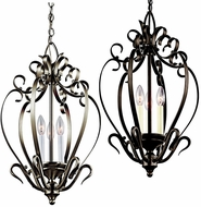 Kichler 42501 3 Candle Traditional Small 24 Inch Tall Entryway Light Fixture